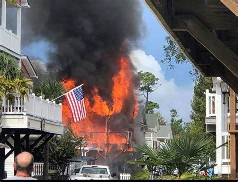 Multiple homes damaged during fire at Ocean Lakes