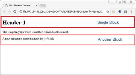 HTML Tutorial - HTML Block and Inline Elements