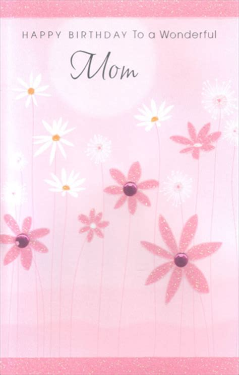 Pink and White Flowers Mother Birthday Card by Freedom