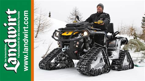 Can-am Outlander 1000 mit Apache Tracks - YouTube
