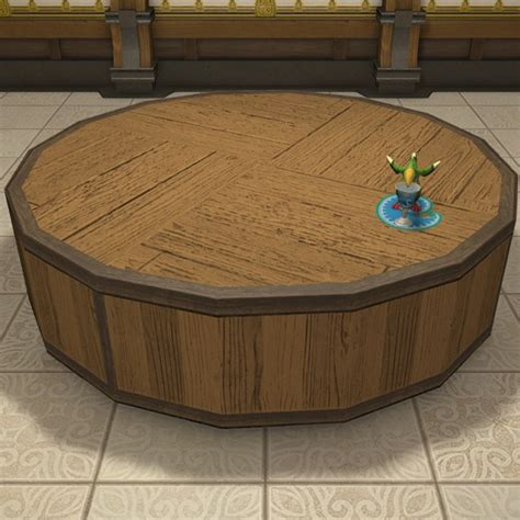 Round Stage FFXIV Housing - Table