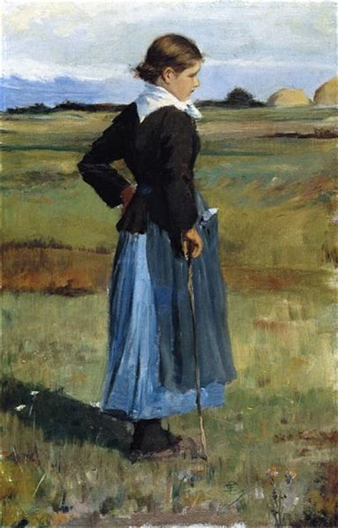 French Peasant Girl, 1893 - Childe Hassam - WikiArt