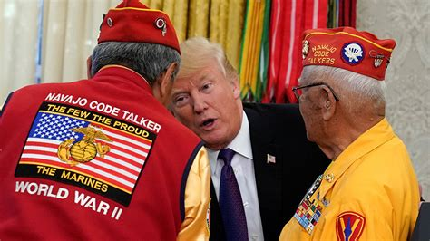 Trump calls out 'Pocahontas' while honoring WWII Navajo