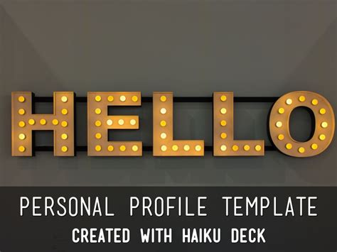 Personal Profile Template by Reusable Template