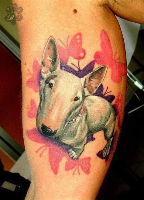 The 12 Coolest English Bull Terrier Tattoo Designs In The