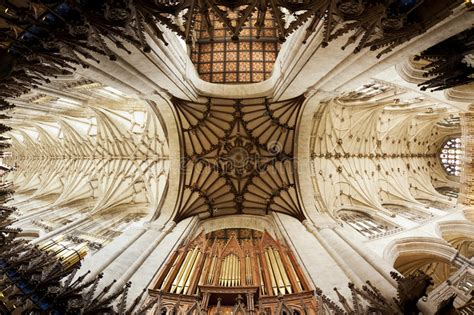 Vaulted Ceiling Of Winchester Cathedral Stock Image