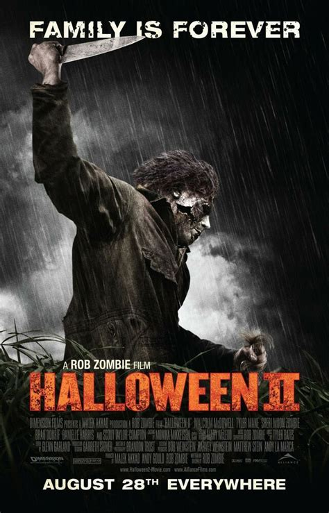 HALLOWEEN 2 Michael Myers Movie Poster Horror Remake Rob