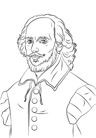 William Shakespeare coloring page | Free Printable