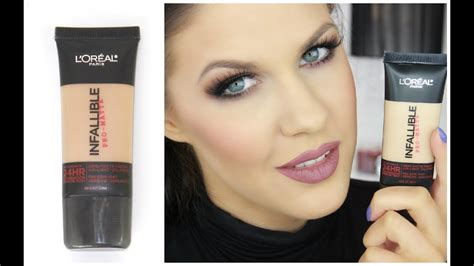 L'Oreal Infallible Pro Matte Foundation Review - YouTube