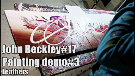 Abstract Painting Demonstration HD Video - Leathers by