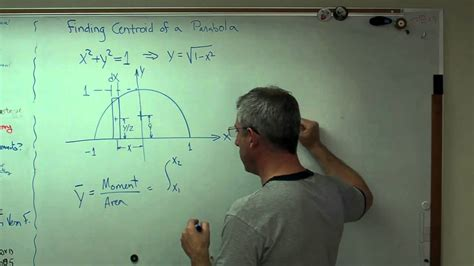 Finding Centroid of a Parabola